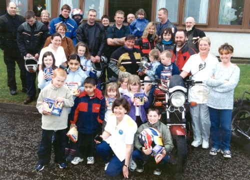 The Ayrshire Easter Egg Run in 2000 organised by Loudoun MCC.
